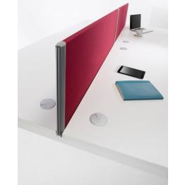 Era Series (1) Desk Mounted Screens with PVC Trim