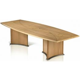 Trefoil Base Veneer Boardroom Tables