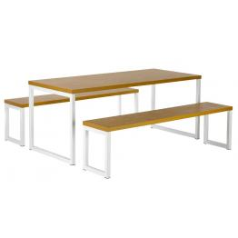 City Dining Bench Tables & Bench Seating 40mm Thick Table Tops (Std Frame Colours)