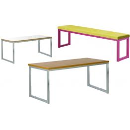 40/40 - Robust Steel Dining Tables and Benches with 40mm Laminate Top  (Fully Welded Frame)