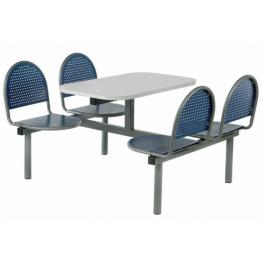 Laser Range Steel Seat and Frame Canteen Furniture