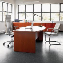 Corniche Executive Range - 40mm Veneer Tops Inc Solid Wood Lippings