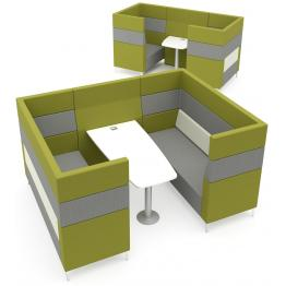 Elite Evo Plus HIgh Back Modular Pod/Booth Sofa Units