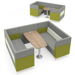 Elite Evo Plus Medium Back Modular Pod/Booth Sofa Units