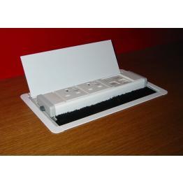 Horizon Through Desk Cable Management