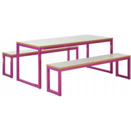 40/40 - Robust Steel Dining Tables and Bench Sets with 40mm Laminate Top  (Fully Welded Frame)
