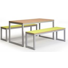 40/40 - Robust Steel Dining Tables and Bench Sets with 25mm Laminate Top  (Fully Welded Frame)