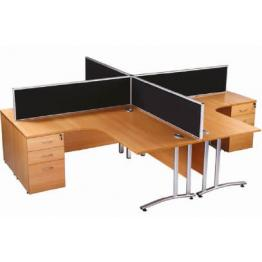 Aurora Desk Mounted Rectangular Screens