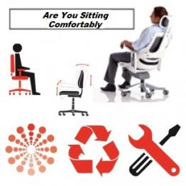 Hudson's Office Furniture present the User Guide To Better Posture within the office or home