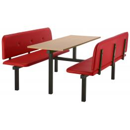 Bench Modular Canteen Units with Vinyl Seats & Buttons