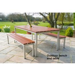 Outdoor Tables and Bench Options