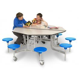School Cafeteria Mobile Folding Tables and Seating
