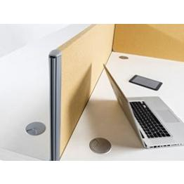 Era Series (2) Desk Top Fabric Screens with Aluminium Trim