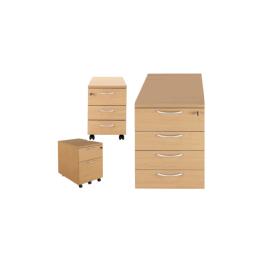 Wooden Desk Pedestals