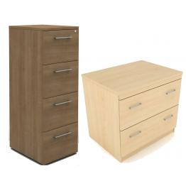 Wooden Filing Cabinets and Side Filers