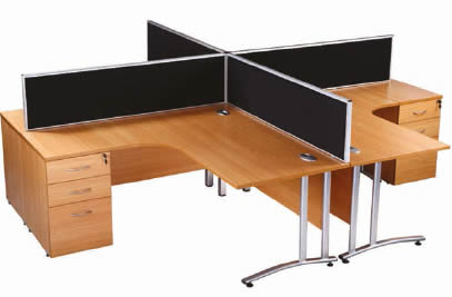 Part of the Aurora Desk Mounted Rectangular Screens range