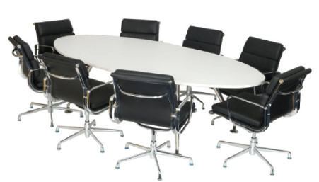 Part of the Aurora Office Tables range