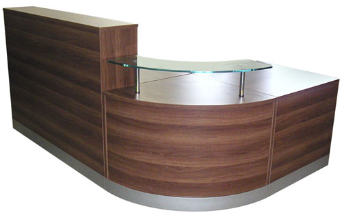 Part of the Aurora Reception Desks range