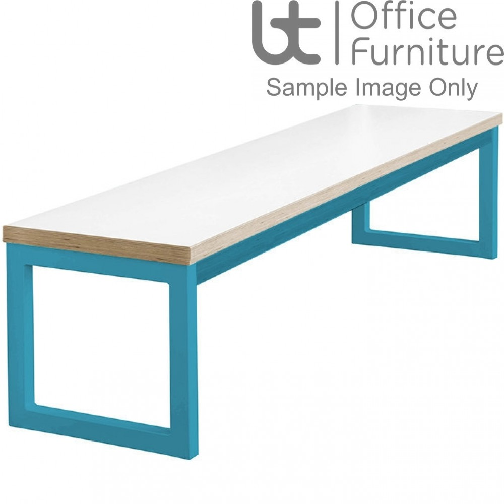 City 40/40 Robust 40mm Laminate Top School Bench Seat W2100mm (Premium Frame Colours)