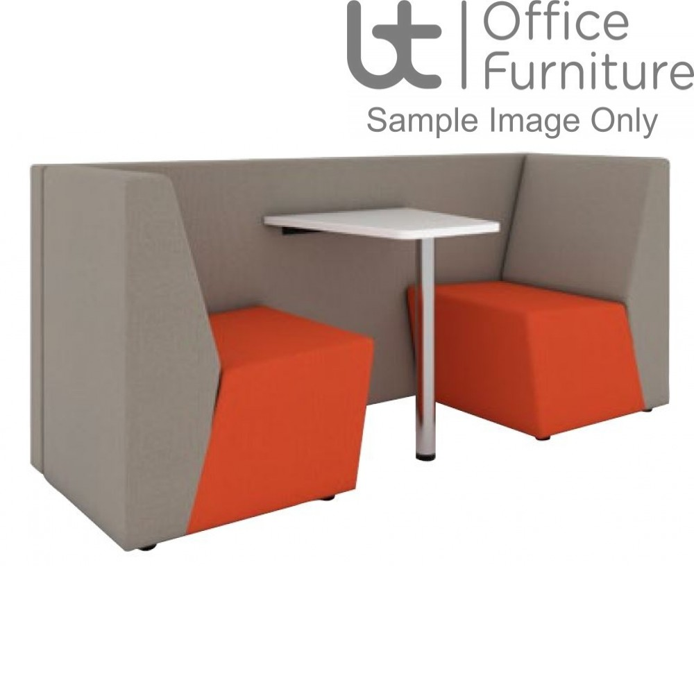 Ziggie Low Back 2 Person Meeting Booth with Table - made to order