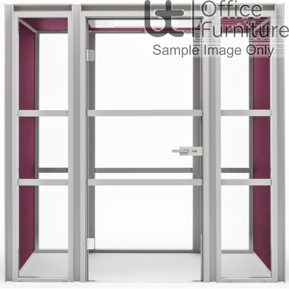 Modern Hako Acoustic Booth - Accommodates: 2 TO 4 people, 2 Upholstered Walls