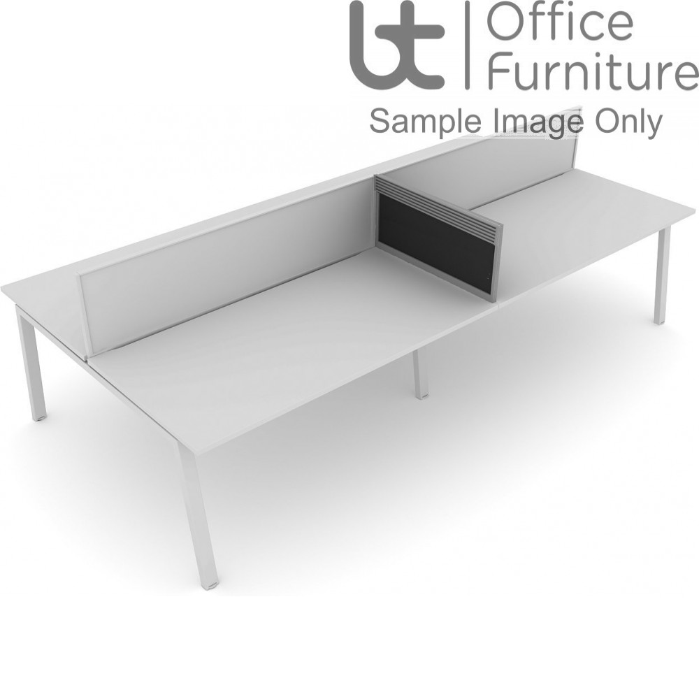 Elite Linnea System Screen - Fabric For Mid Desk Return with Management Rail