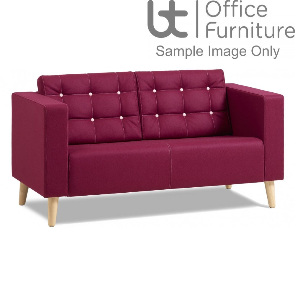Verco Soft Seating - Abby Two Seater Armchair with Oak Legs