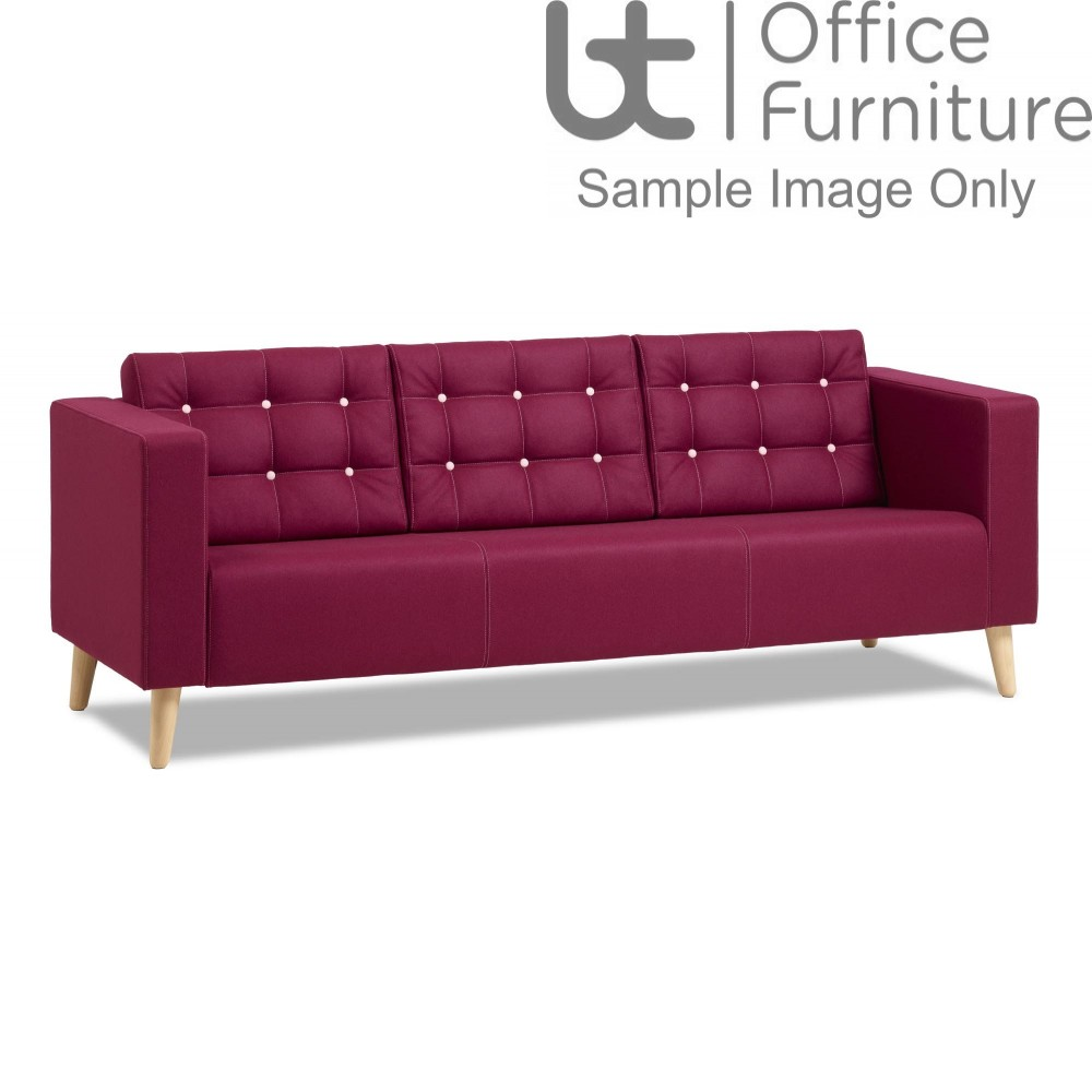 Verco Soft Seating - Abby Three Seater Armchair with Oak Legs
