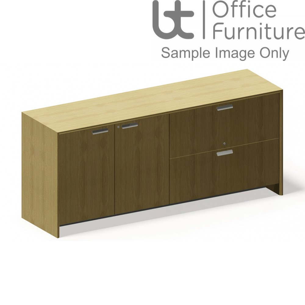 Aston Double Length Cupboard with Storage On The Left and Side Filing On The Right