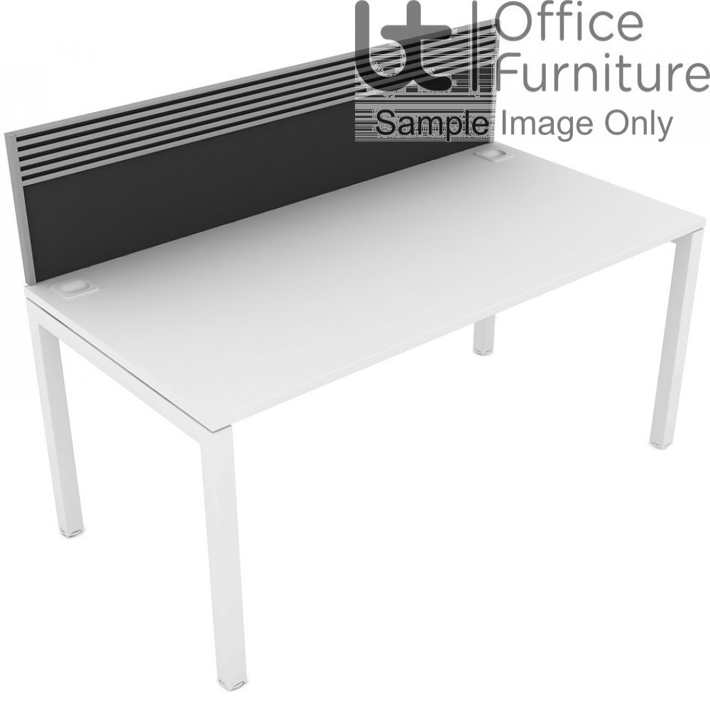 Elite Matrix Screen - Fabric (Fixed Height) System Screen For Single Desk with Management Rail