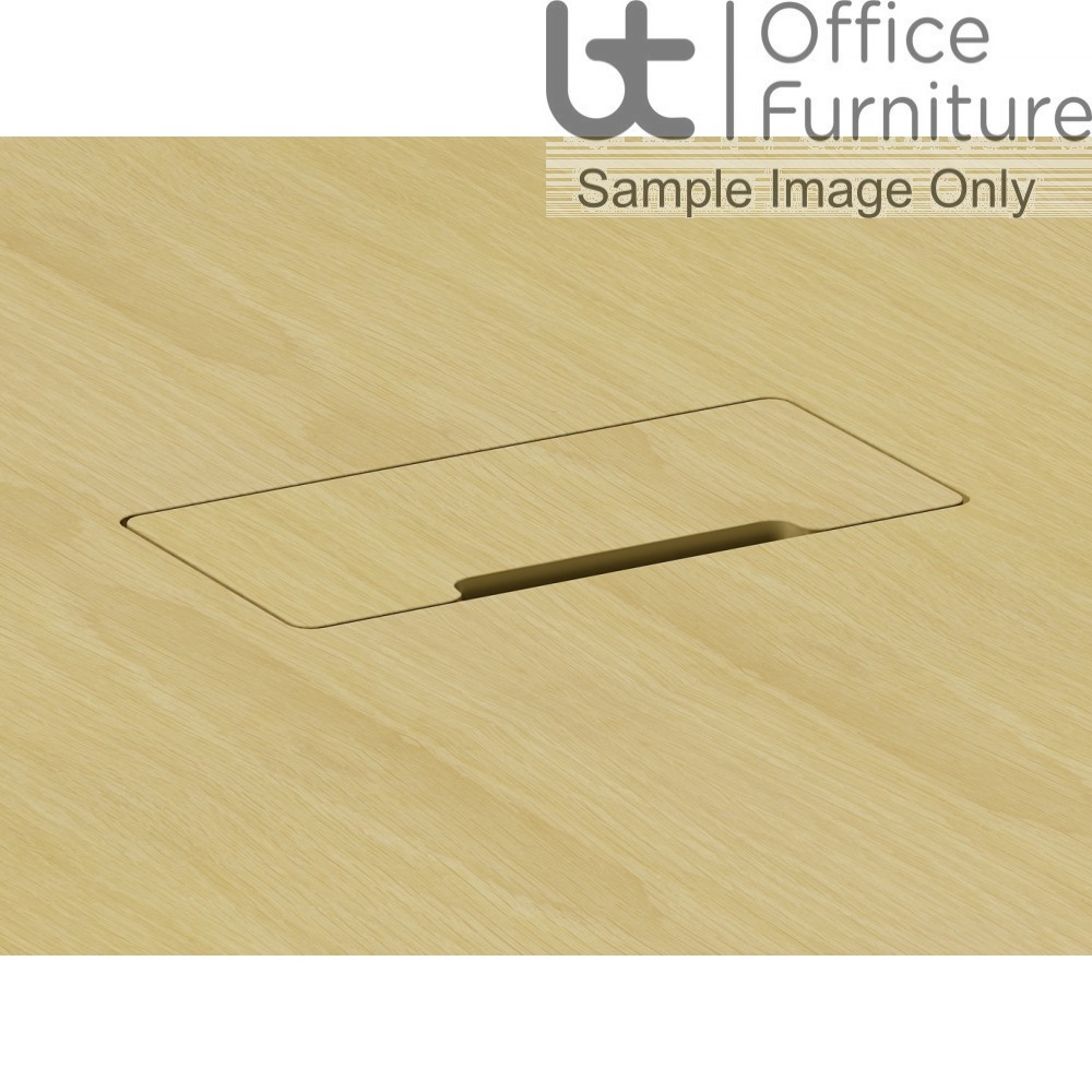 Aston Wooden Hinged Veneered Cable Access Flap