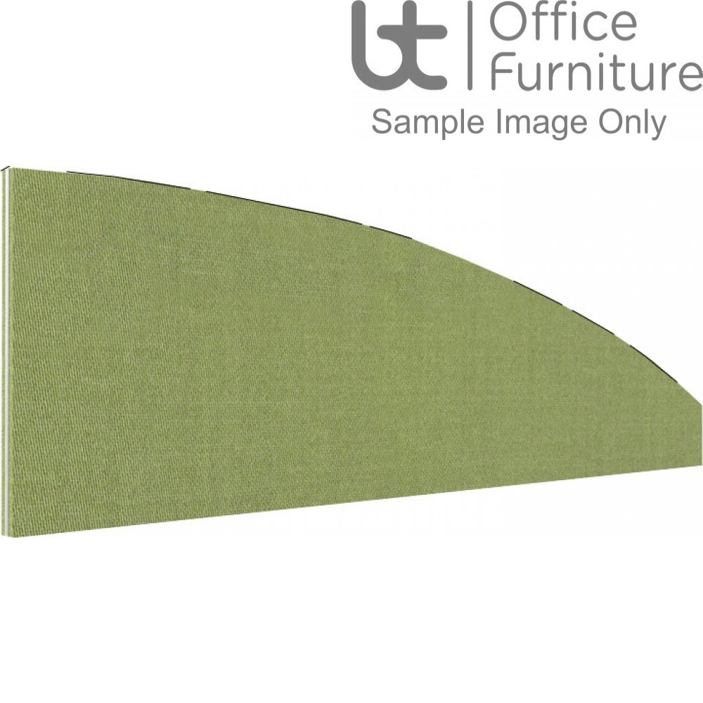 Innovate Venice Fabric Desk Mounted Arc Screen 380-50mm High - Non Linking