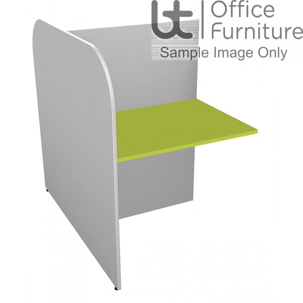 BT Study Carrel Single Back to Back Add-On Unit - 1268mm Deep - (Band 2 Colour Choices)