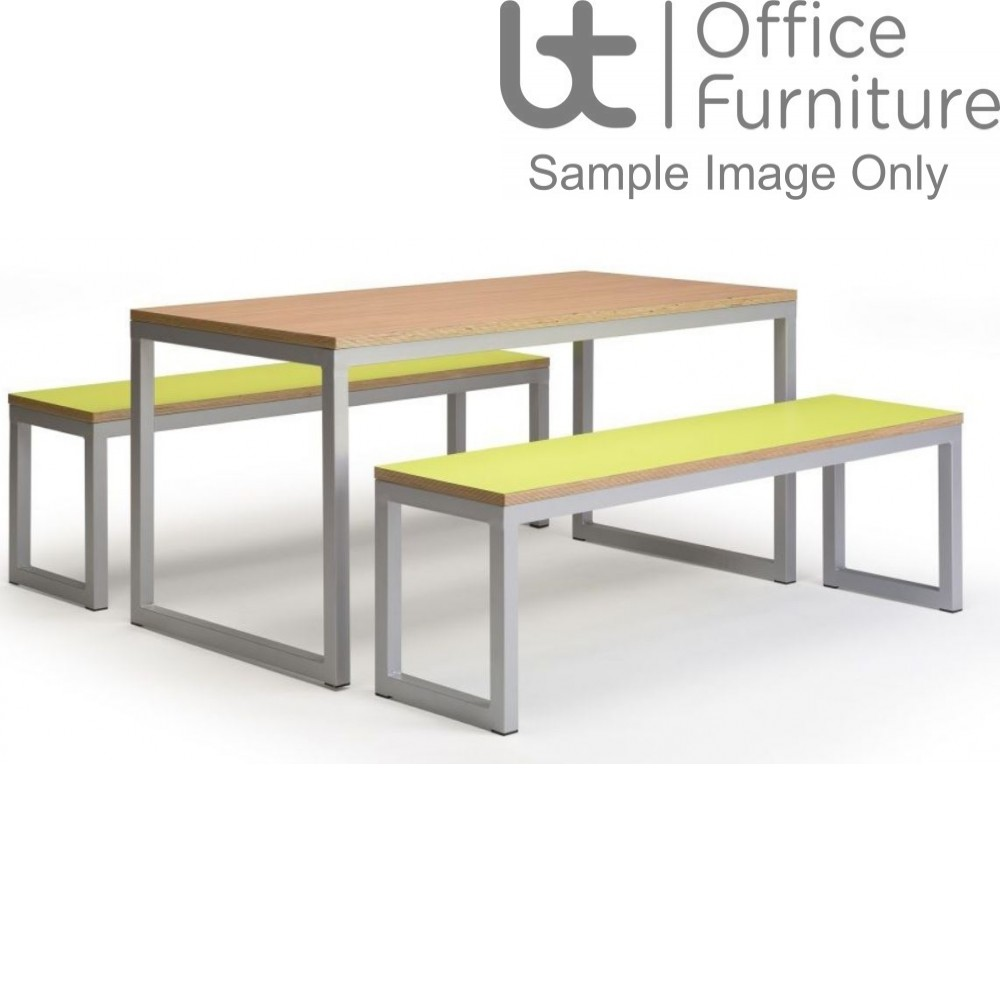 City 40/40 Robust 40mm Laminate Top School Bench Dining Sets W2200mm (Std Frame Colours)