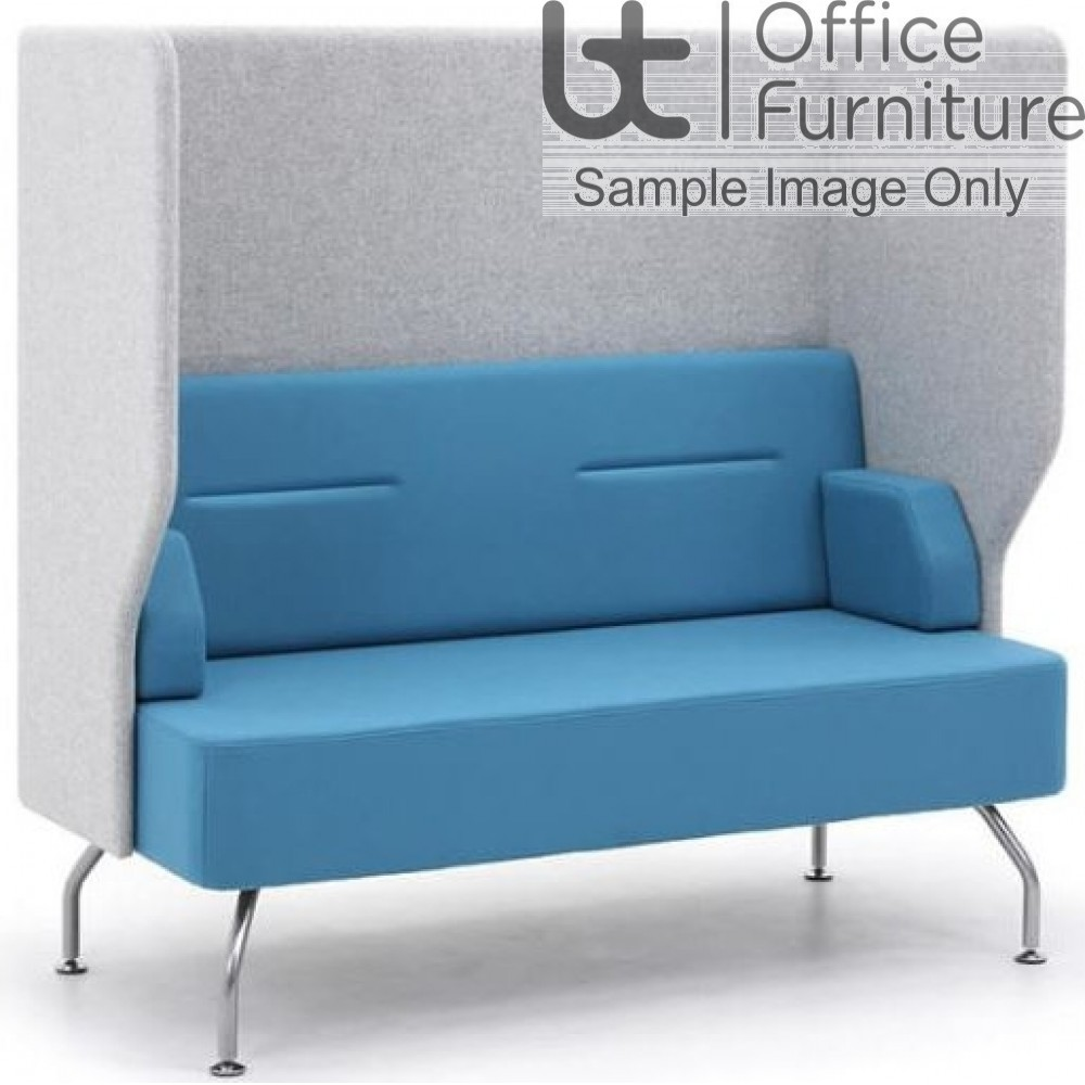 Verco Pod/Booth - Brix-Up Two Seat Unit with a High Acoustic Surround (Metal Legs - Arms NOT inc)