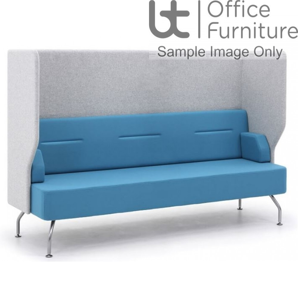 Verco Pod/Booth - Brix-Up Three Seat Unit with a High Acoustic Surround (Metal Legs - Arms NOT inc)