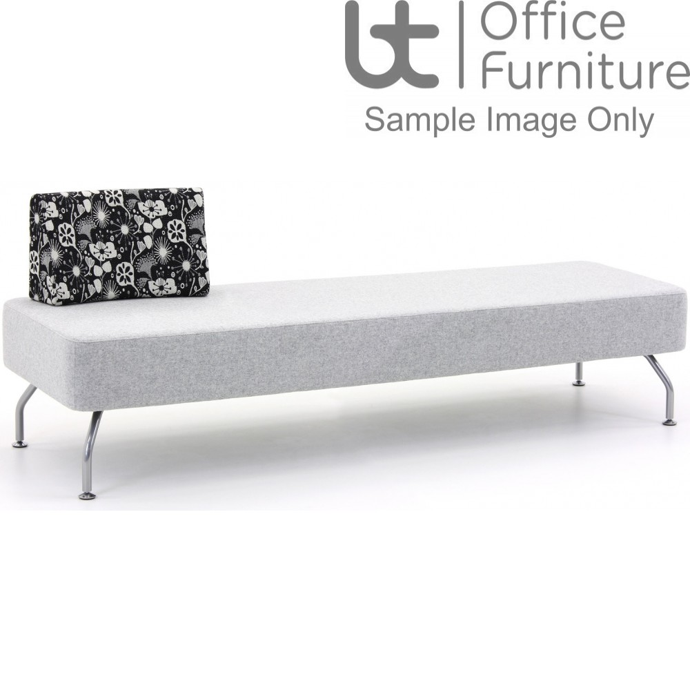 Verco Soft Seating - Brix Three Seater Unit with a Single Back (A)