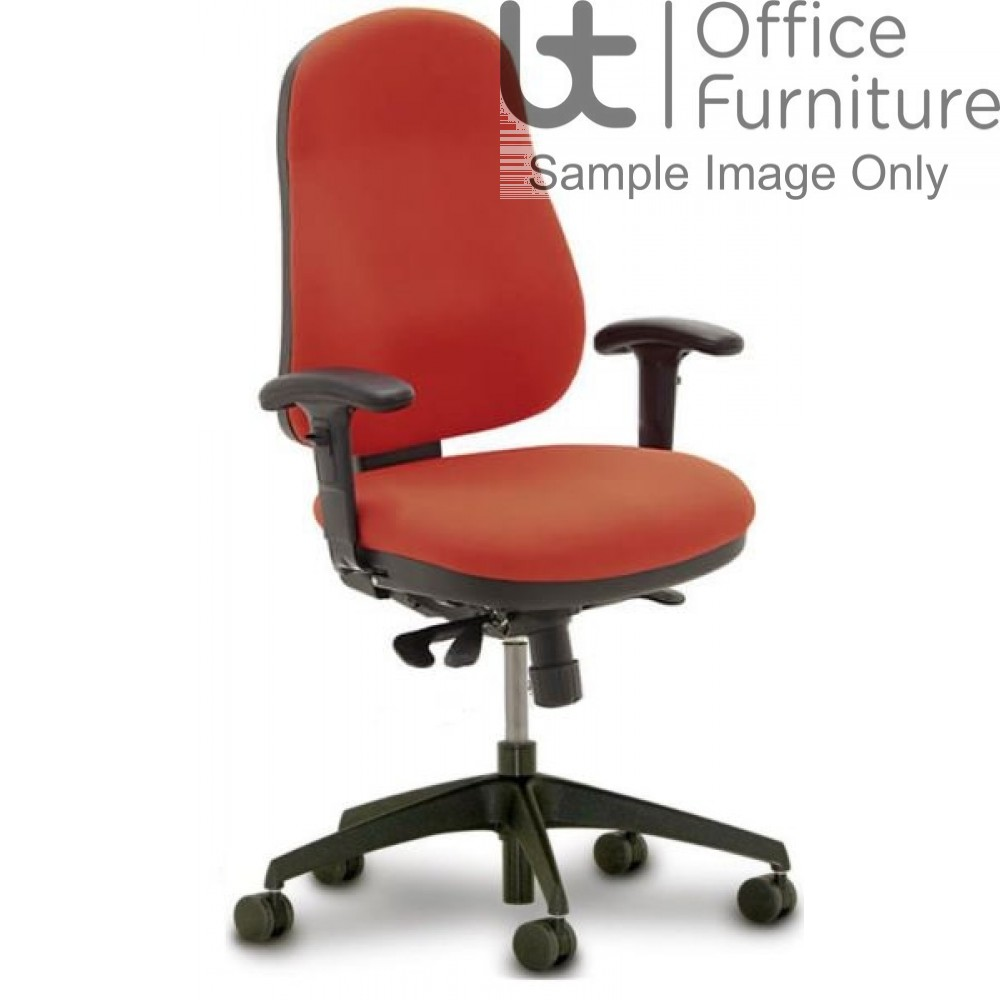 Verco Operator/Task Chair - Buzz Large Ergonomic Back Task Chair with Adjustable Arms