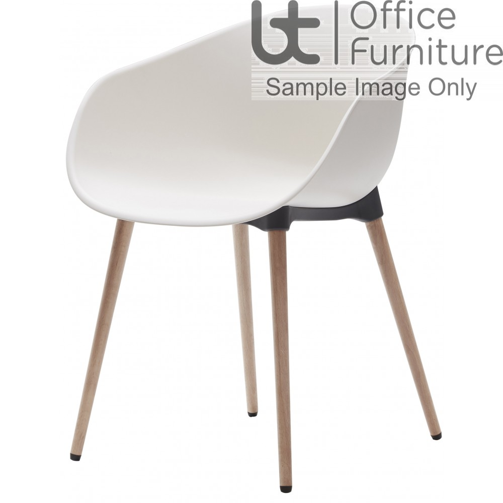 Verco Multi Pupose Seating - Cup, Plastic Shell with a Wooden Frame