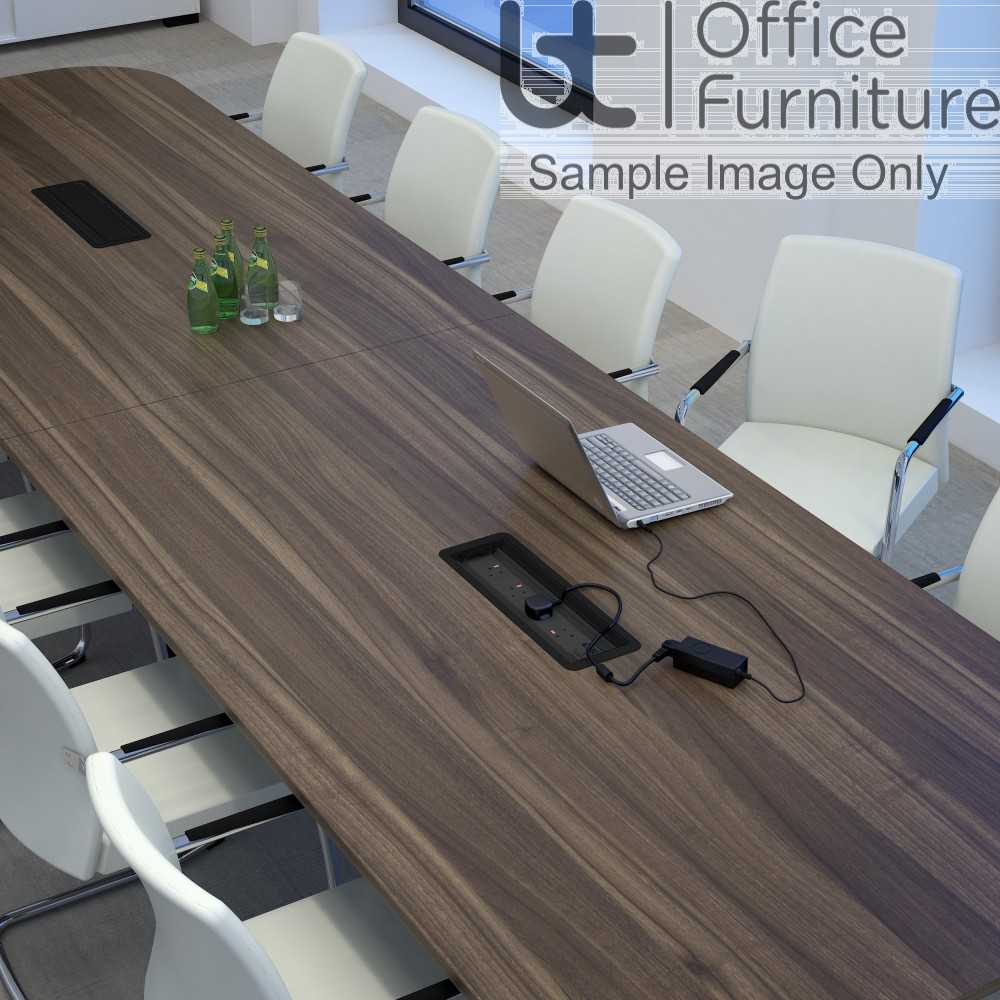 Elite Linnea Table - Double D Ended Conference Table - Seats Up-to 14 People