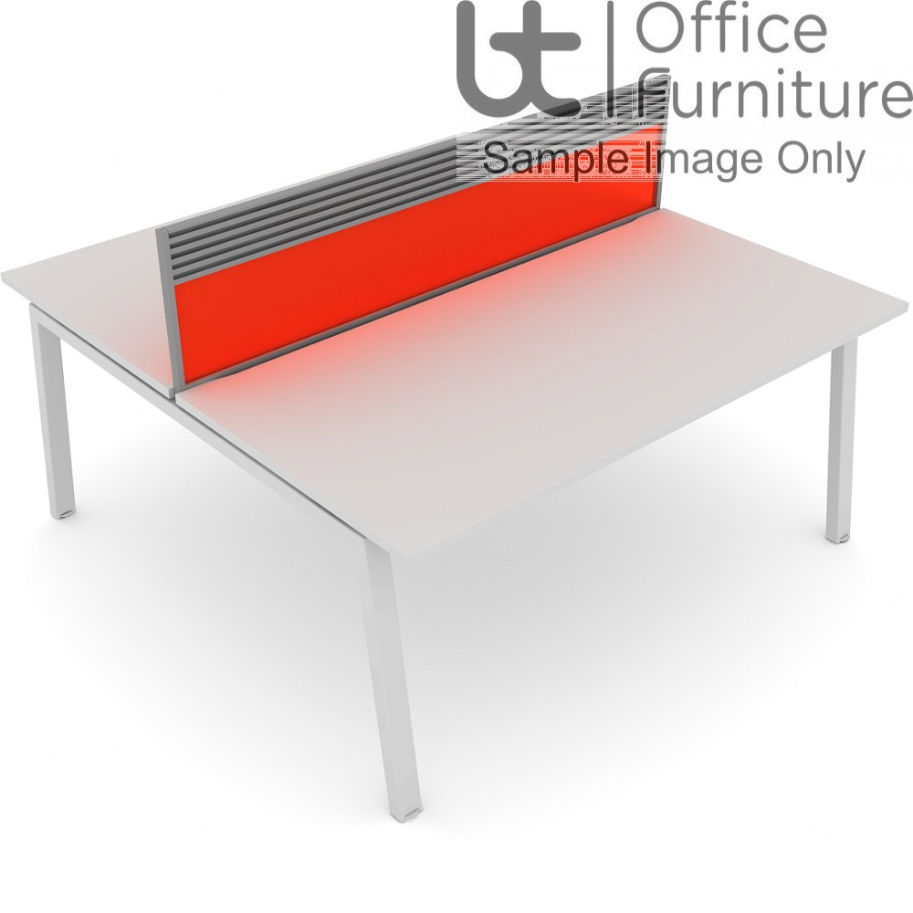 Elite Linnea System Screen - Acrylic Screen with Management Rail For Double Desk