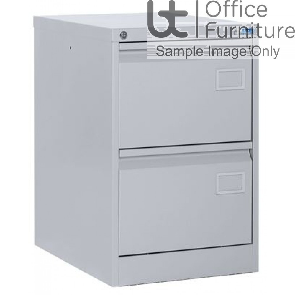 Silverline Executive Foolscap 2 Drawer Filing Cabinet