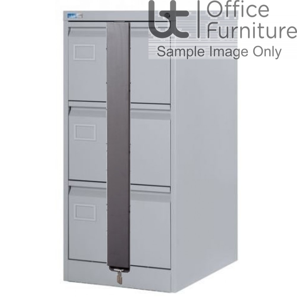 Silverline Executive Foolscap 3 Drawer Filing Cabinet + Security Bar