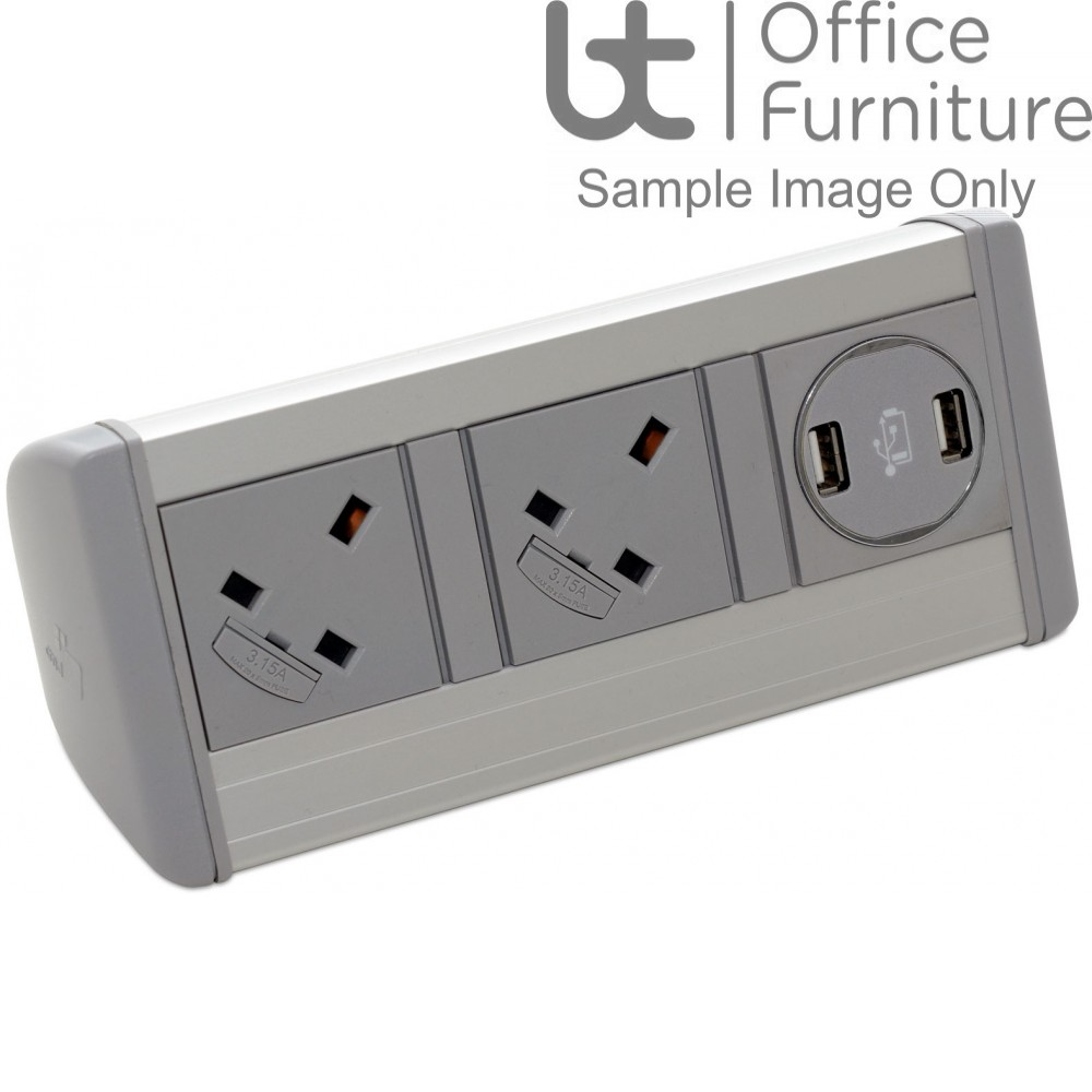 Harmony 2 x power, 1 x twin USB Type A + Type C charger, 1m mains lead to 3-pole connector