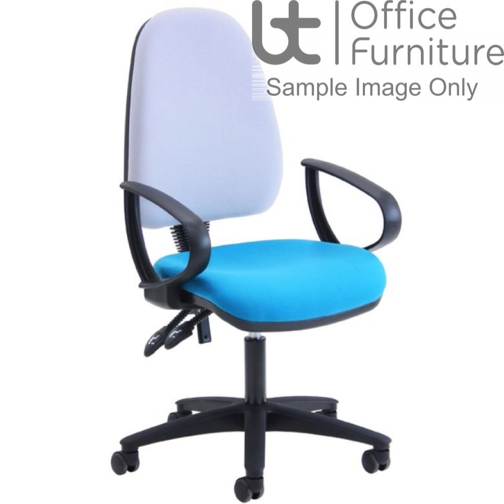 Verco Operator/Task Chair - Look High Back Chair with Arms