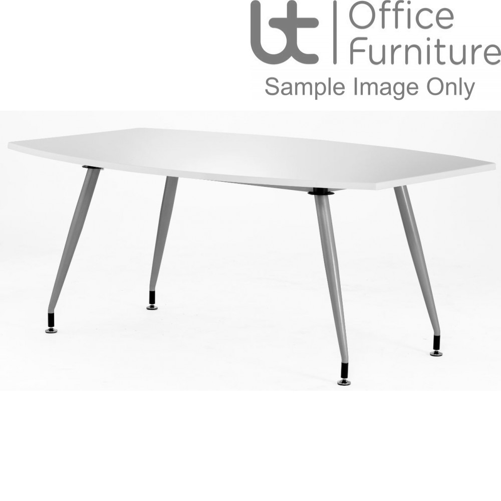 White High Gloss Conference Table W1800 x D1200mm - Seats 6