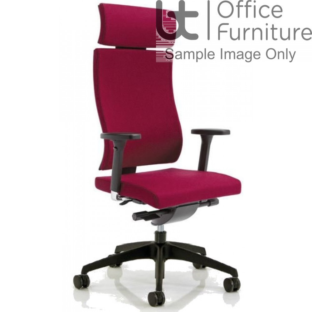 Verco Executive seating - Vibe Show Wood High Back Task Chair with Adjustable Arms