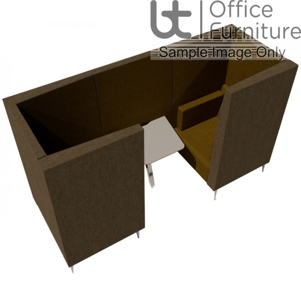 Verco Pod/Booth - Jensen-Up two person booth inc integral high acoustic surround, 800mm wide + 600mm deep MFC Table