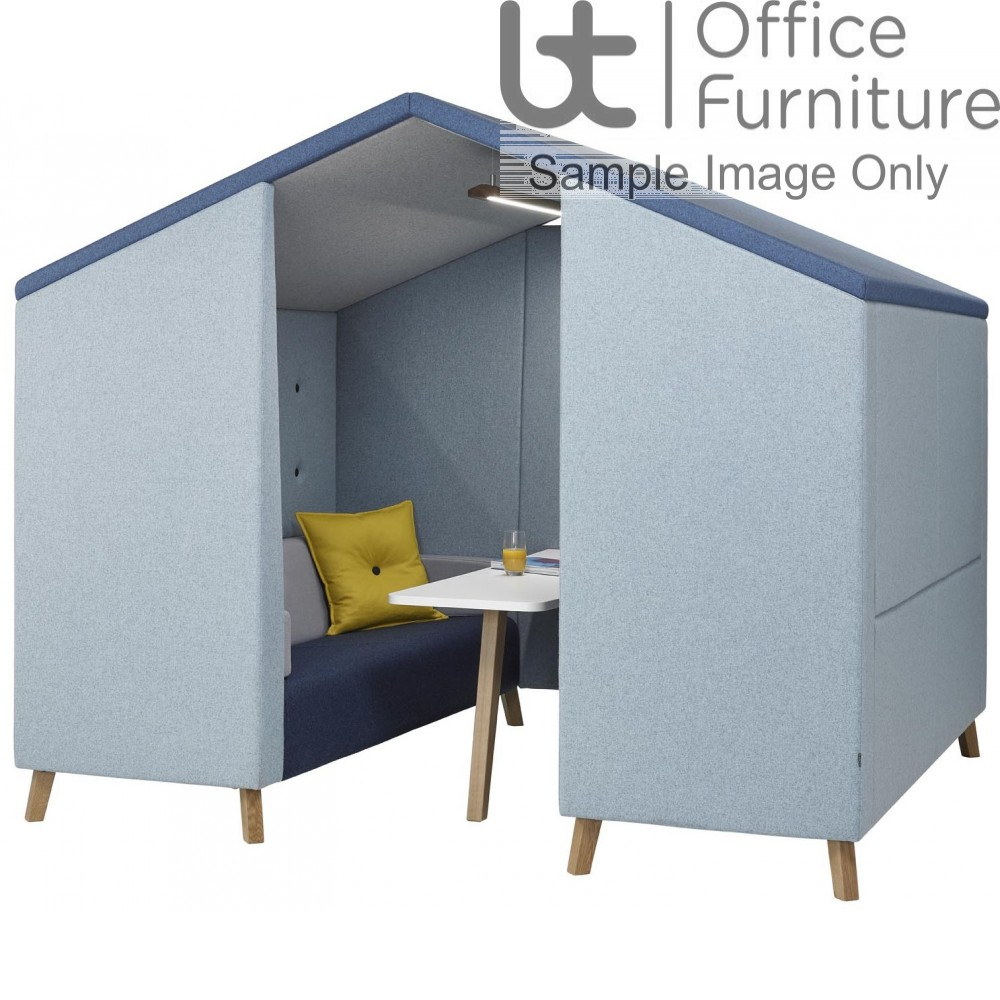 Verco Pod/Booth - Jensen Hut Six-Person Unit, with Acoustic Surround and Upholstered Roof