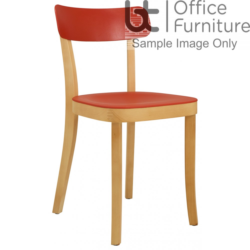 Elite Breakout Seating - Latte Breakout Chair with Wooden Frame